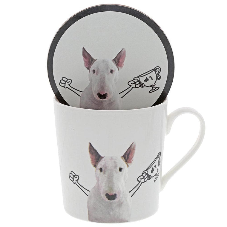 Jimmy the Bull 'The Winner' Mug & Coaster Set