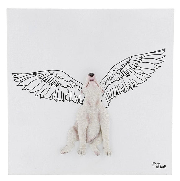 Jimmy the Bull 'Angel Wings' Wall Art