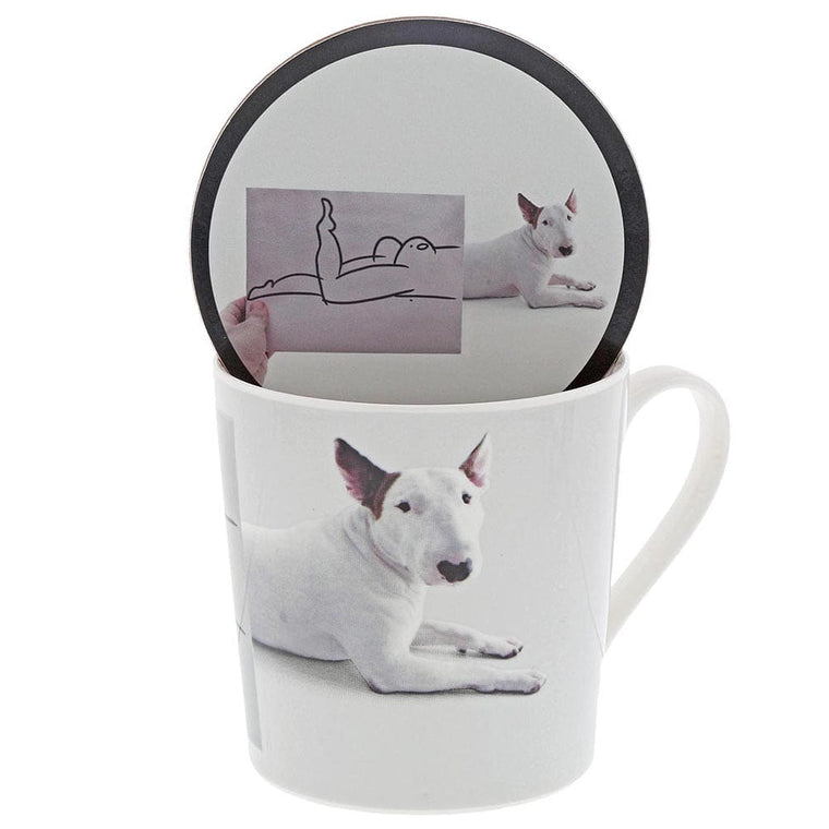 Jimmy the Bull 'Posing' Mug & Coaster Set