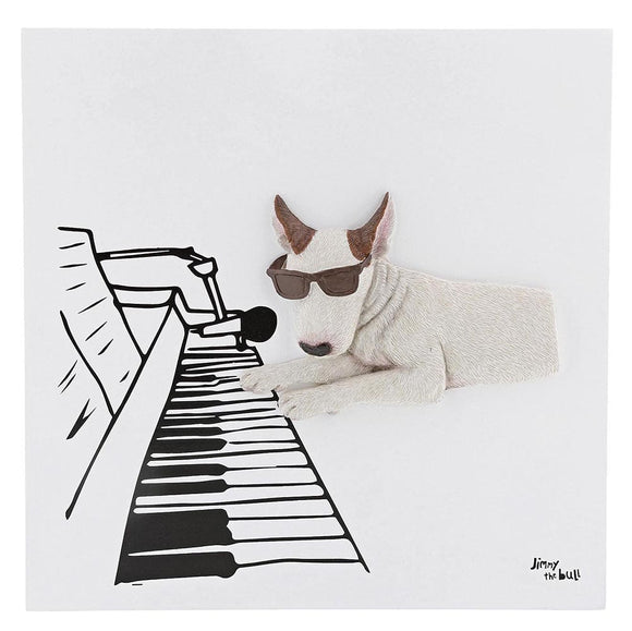 Jimmy the Bull 'Pianist' Wall Art