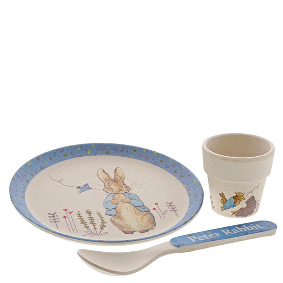 Beatrix Potter Peter Rabbit Bamboo Egg Cup Dinner Set