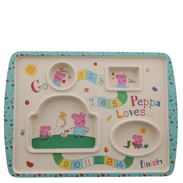 Bamboo Game Plate - Peppa Pig