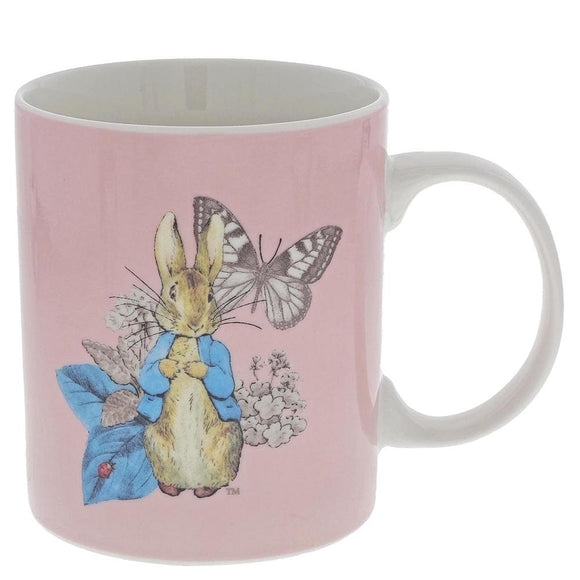 Beatrix Potter Peter Rabbit Garden Party Mug (Pink)