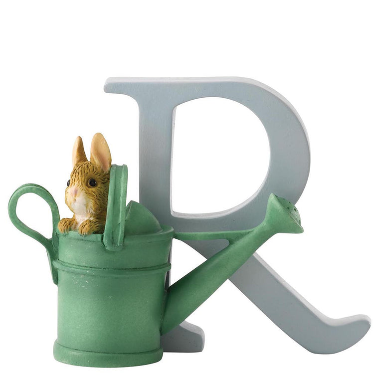 "Beatrix Potter ""R"" - Peter Rabbit in Watering Can"