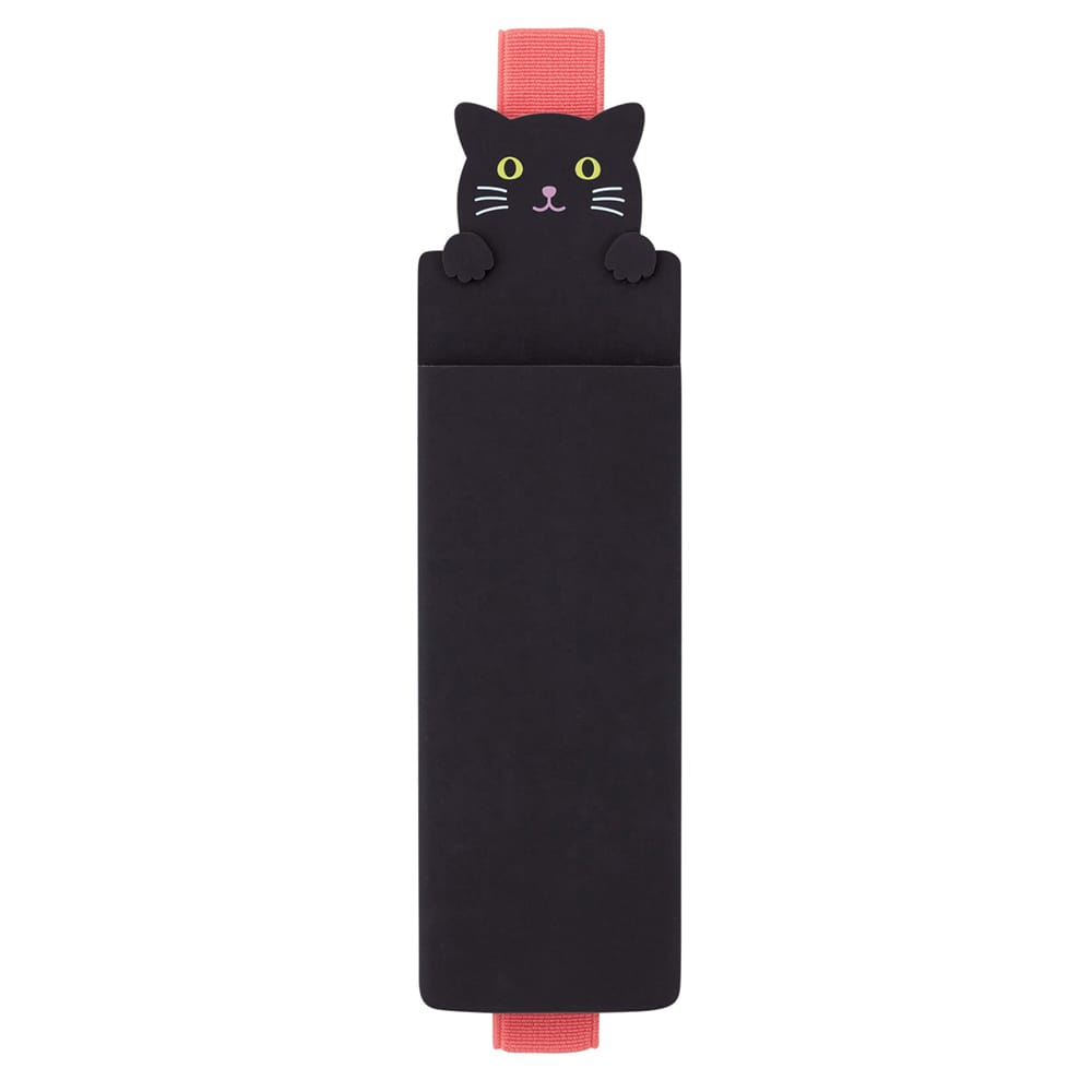 Black Cat Band Pen Case