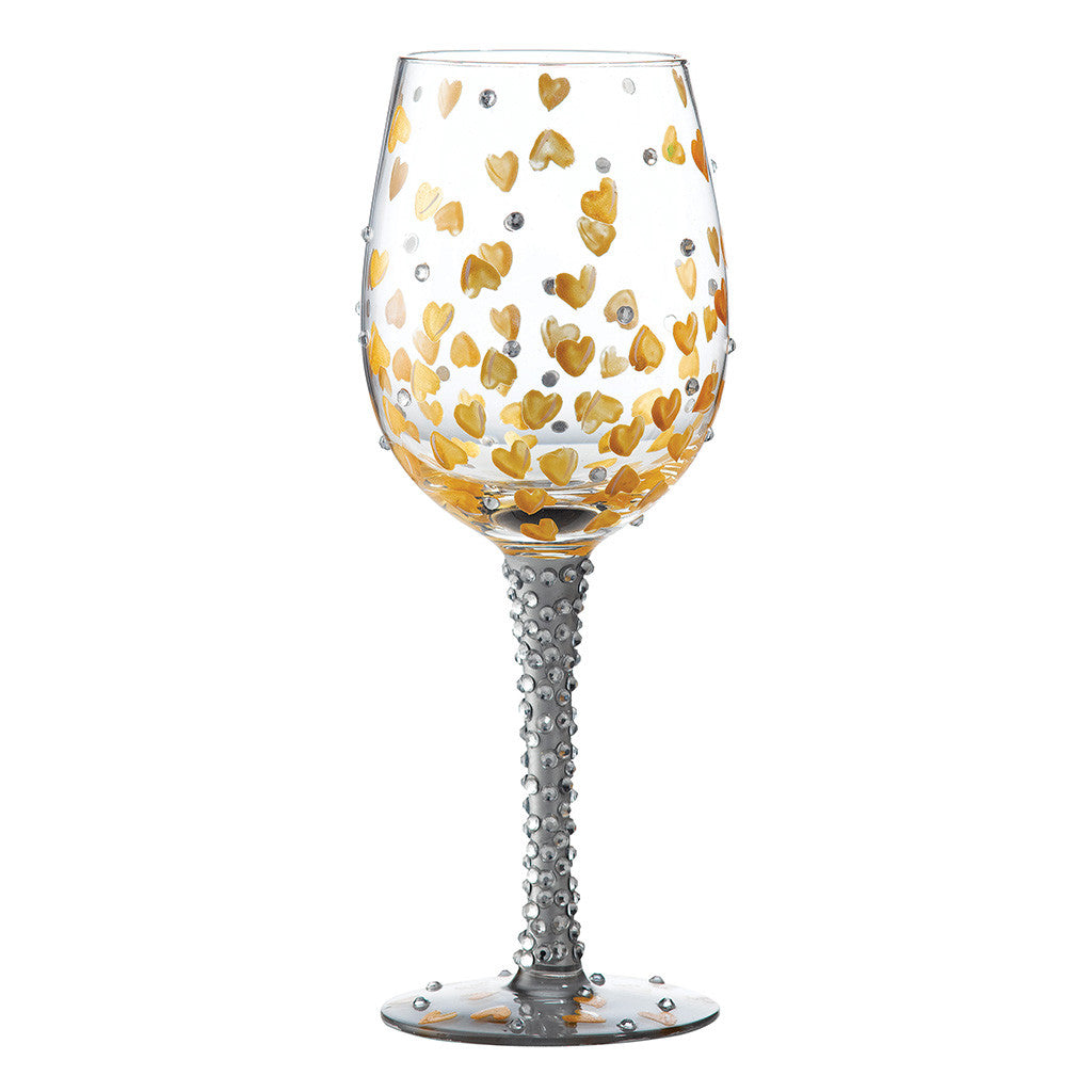 Lolita Heart of Gold Wine Glass
