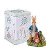 Beatrix Potter Peter Rabbit In Garden 30th Anniversary Figurine with Tin
