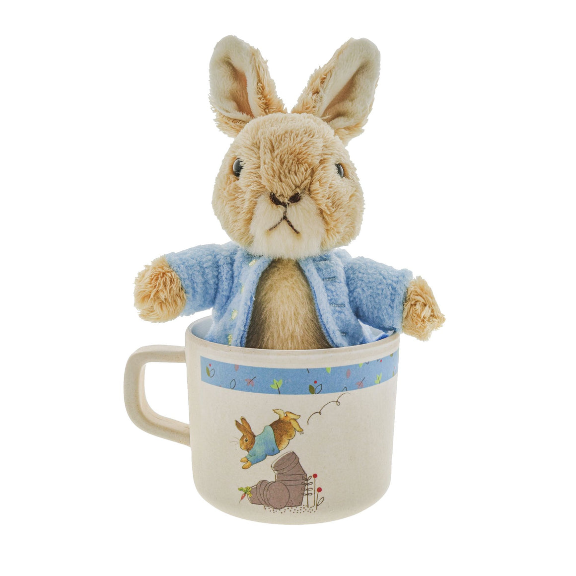 Beatrix Potter Peter Rabbit Bamboo Mug & Soft Toy Gift Set