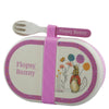 Flopsy Organic Bamboo Snack Box with Cutlery Set
