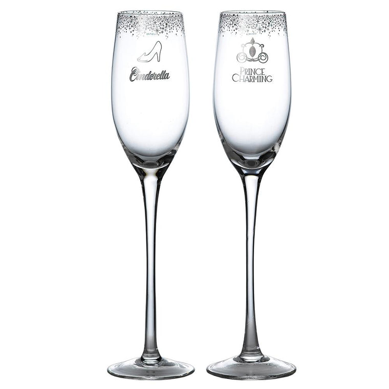 Cinderella Wedding Toasting Glasses by Enchanting Disney