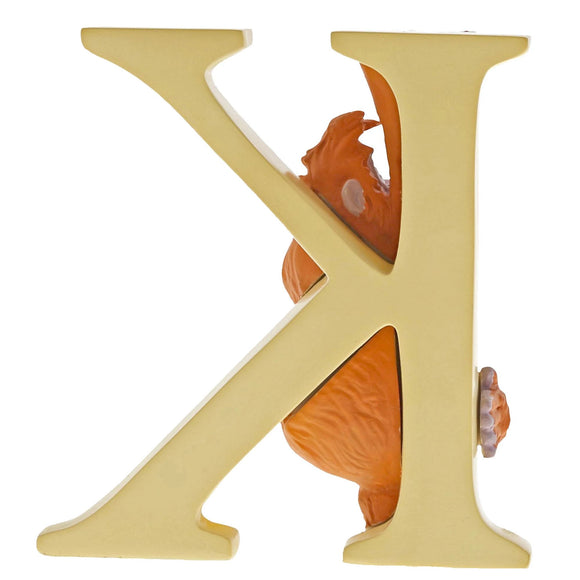 """K"" - King Louie Decorative Alphabet Letter by Enchanting Disney"