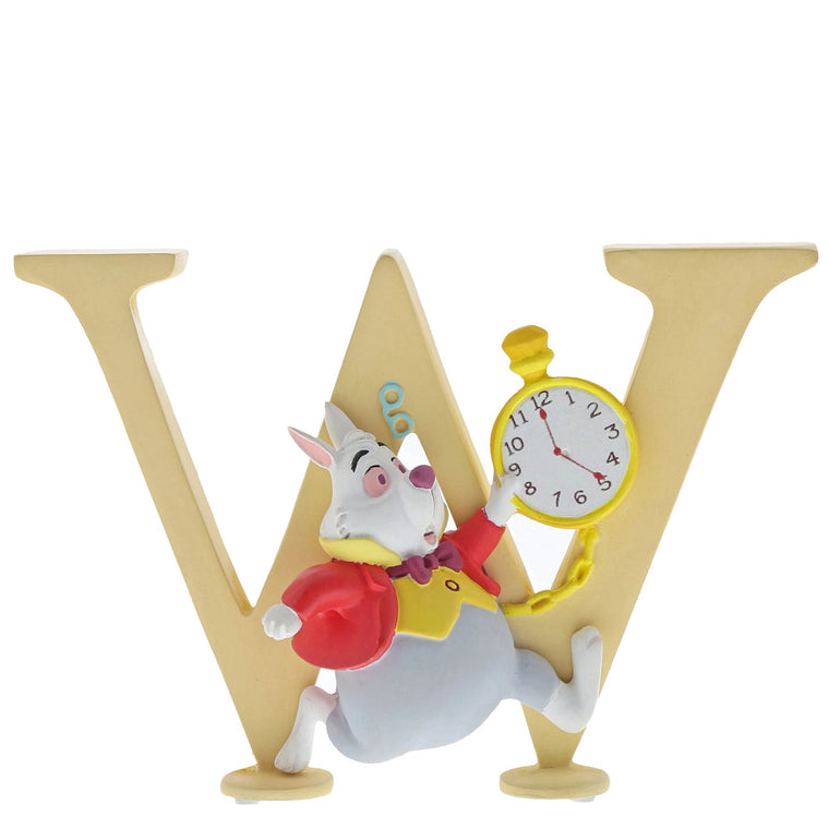 """W"" - White Rabbit Decorative Alphabet Letter by Enchanting Disney"