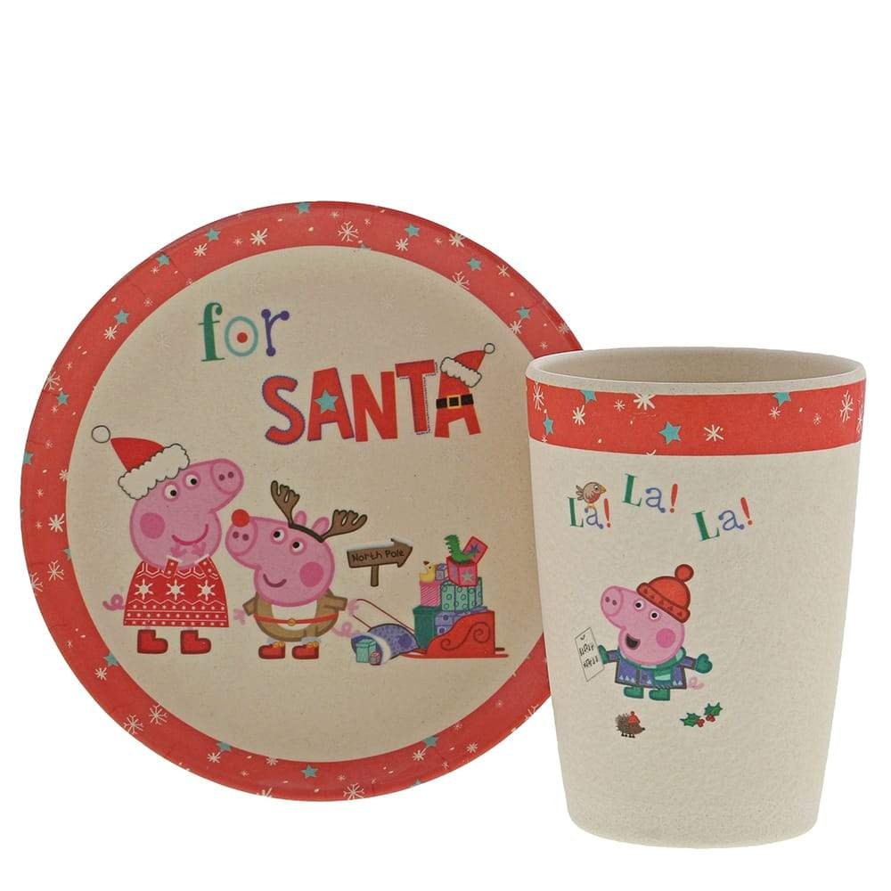 Bamboo Christmas Eve Set - Peppa Pig