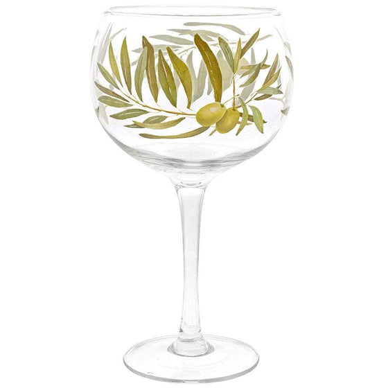 Ginology Olive Plant Gin Copa Glass