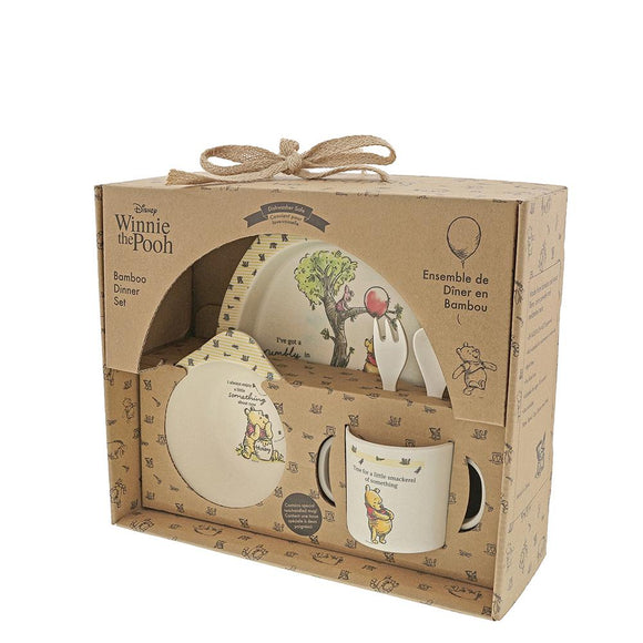 Winnie The Pooh Bamboo Dinner Set