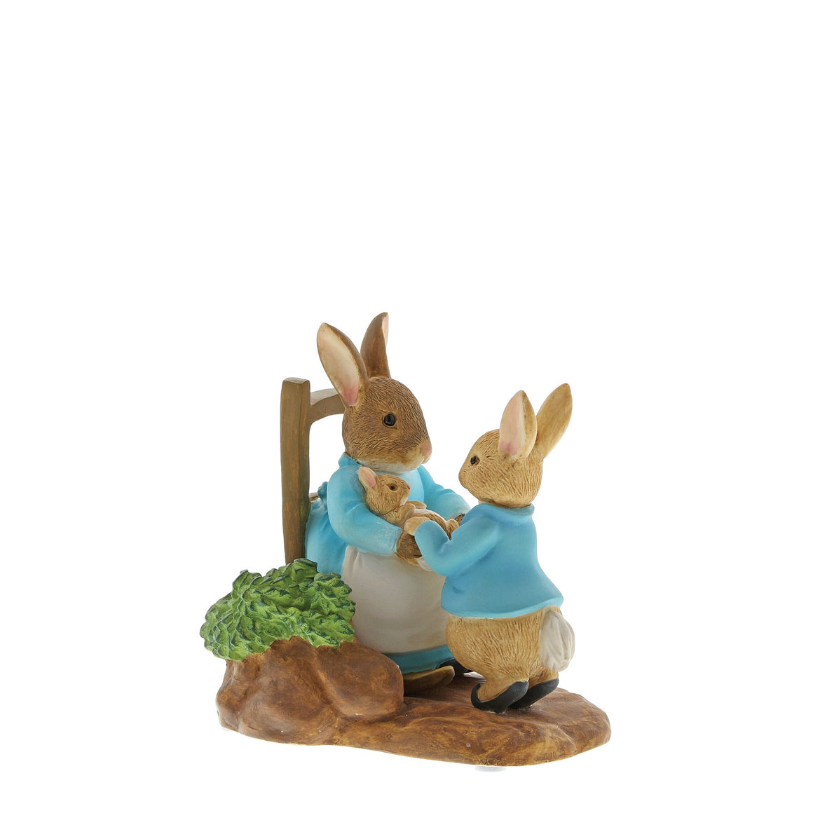 At Home by the Fire with Mummy Rabbit Figurine by Beatrix Potter