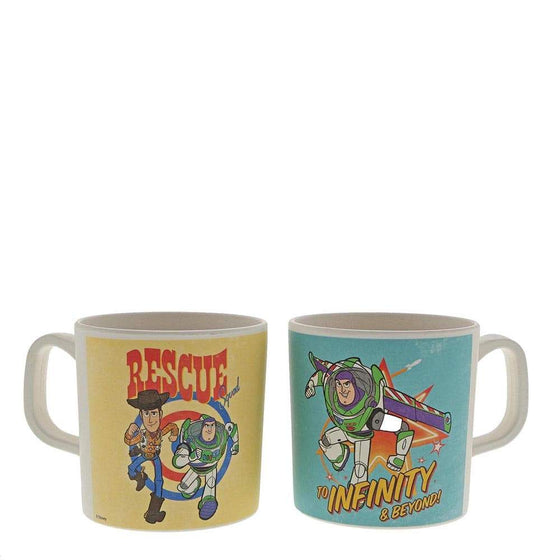 Woody and Buzz Bamboo Mug Set by Enchanting Disney