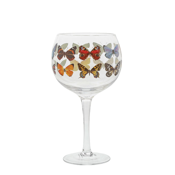 Butterflies Copa Gin Glass by Ginology