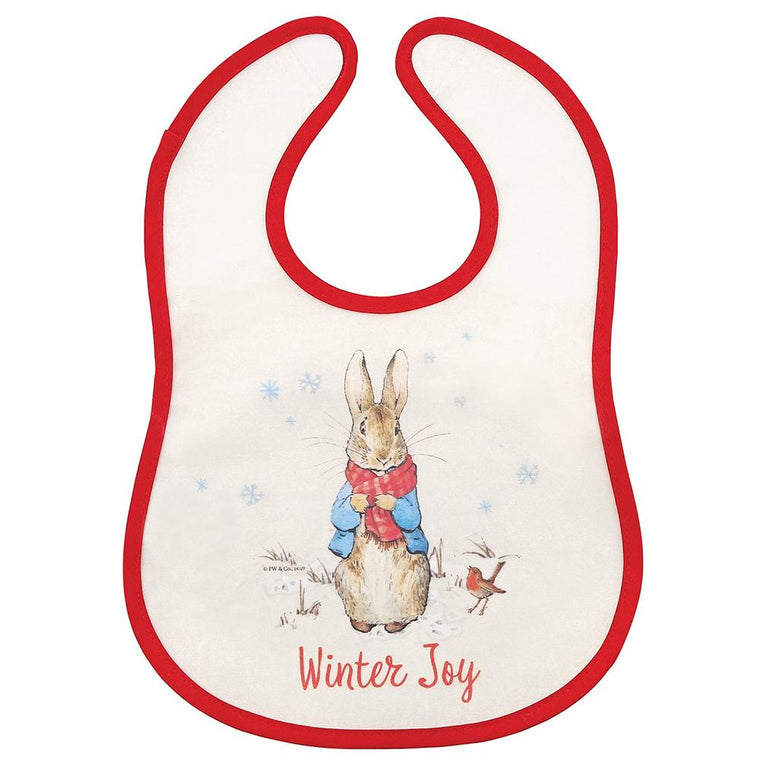 Peter Rabbit Christmas Bib by Beatrix Potter