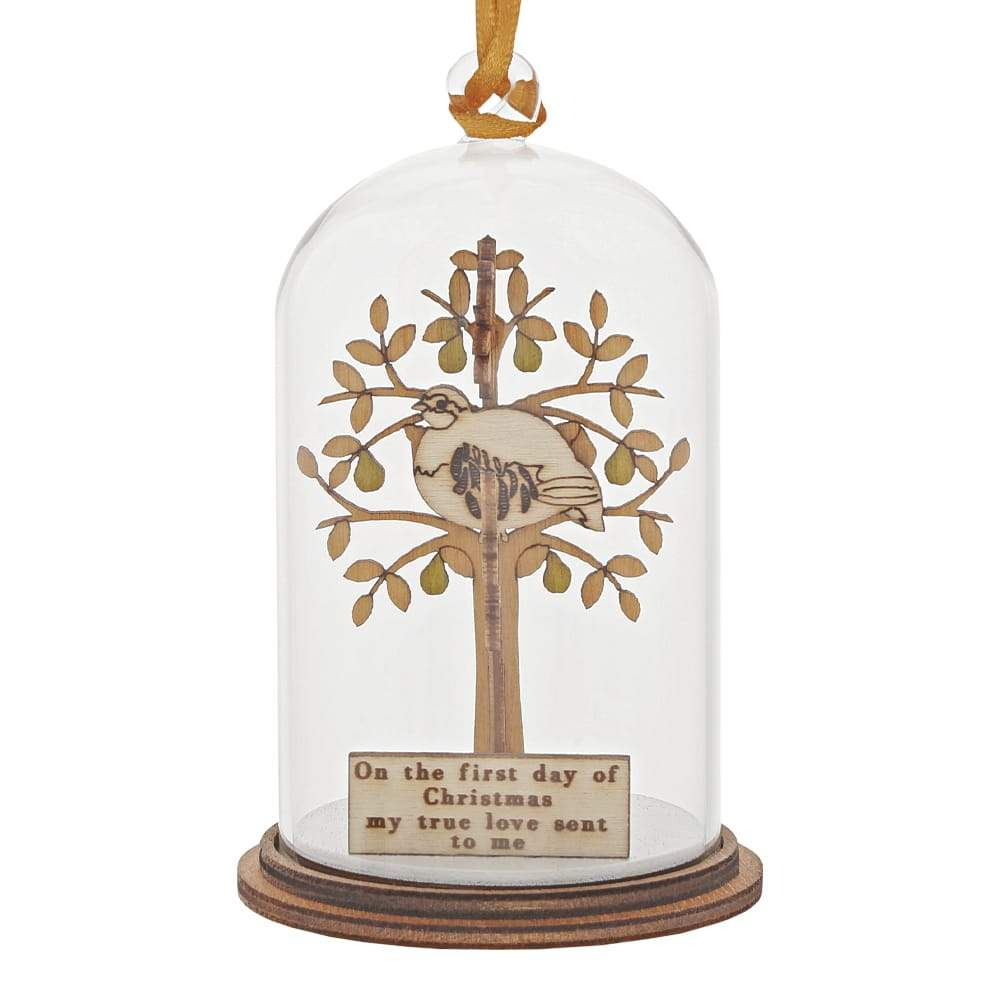 Partridge in a Pear Tree Hanging Ornament - Kloche