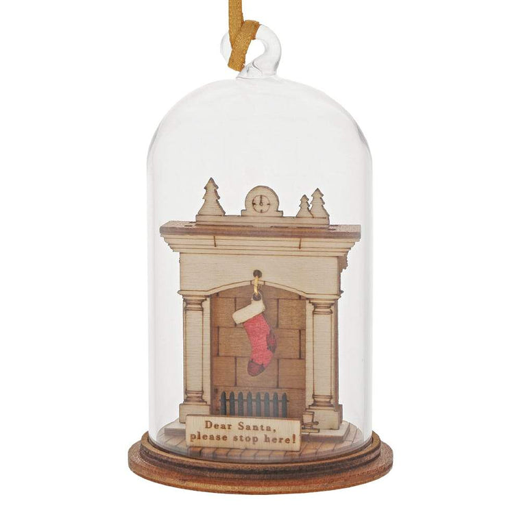 Santa Please Stop Here Hanging Ornament - Kloche by Millbrook Gifts