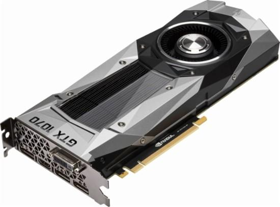 NVIDIA - Founders Edition GeForce GTX 1070 8GB GDDR5 PCI Express 3.0 Graphics Card - Black