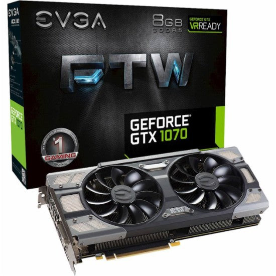 EVGA - FTW Edition NVIDIA GeForce GTX 1070 8GB GDDR5 PCI Express 3.0 Graphics Card - Black