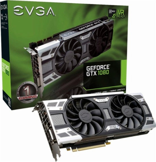 EVGA - NVIDIA GeForce GTX 1080 SC Gaming 8GB GDDR5X PCI Express 3.0 Graphics Card - Black/Silver