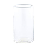 HOUSE DOCTOR TALL WHITE RIM GLASS TUMBLER