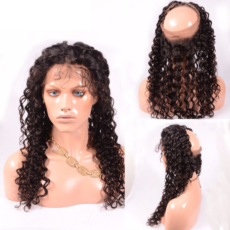 $100K Collection REAL SCALP ILLUSION 360 FRONTAL™ in $100K Deep Wave