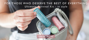 Ultimate survival kit in silver pouch