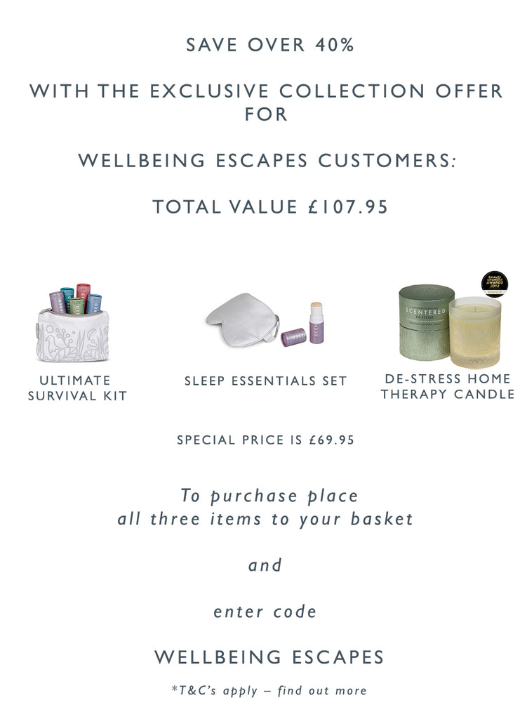 Wellbeing Escapes discount bundle worth £107.95