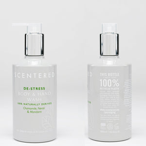 DE-STRESS hand and body wash and lotion