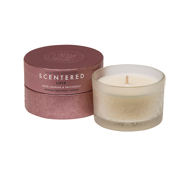 Scentered Aromatherapy Love Travel Candle - Rose Jasmine Small Scented Therapy Candle