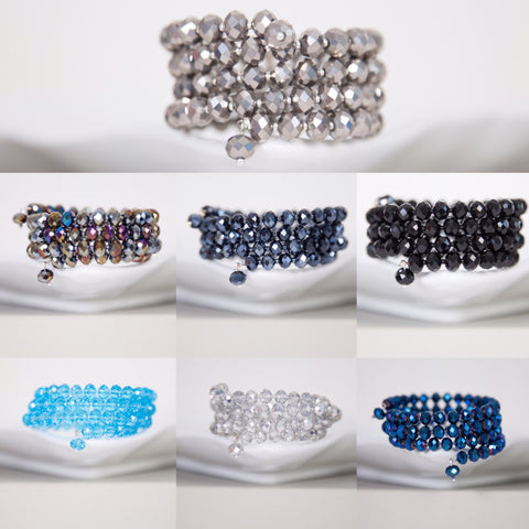 Crystal cuff  (ideal gift) -click to view collection