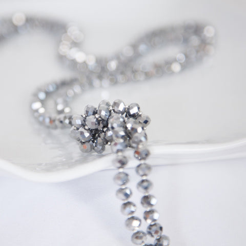 Bridesmaids crystal rope necklace -click to view collection