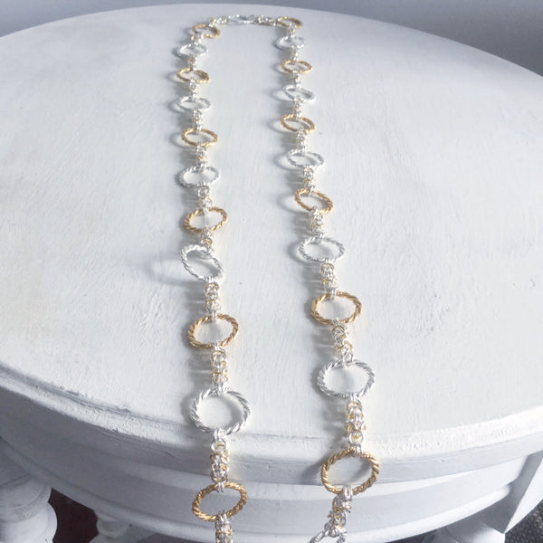 Long necklaces with handmade chain -click to view