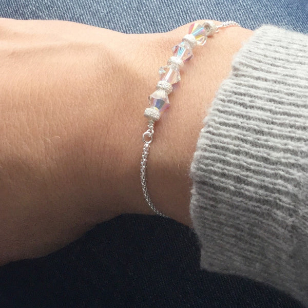 Sterling silver gemstone bracelets - click to view