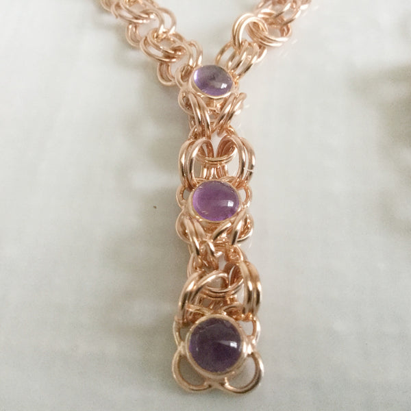 Sterling silver with amethyst suite of jewellery