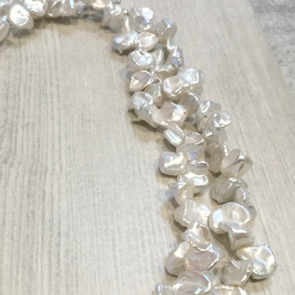 Freshwater cultured Keshi pearl necklace