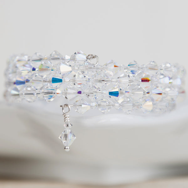 Swarovski elements crystal wrap cuff