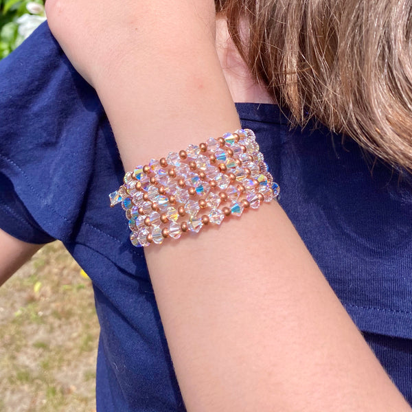 Swarovski elements crystal wrap with rose gold