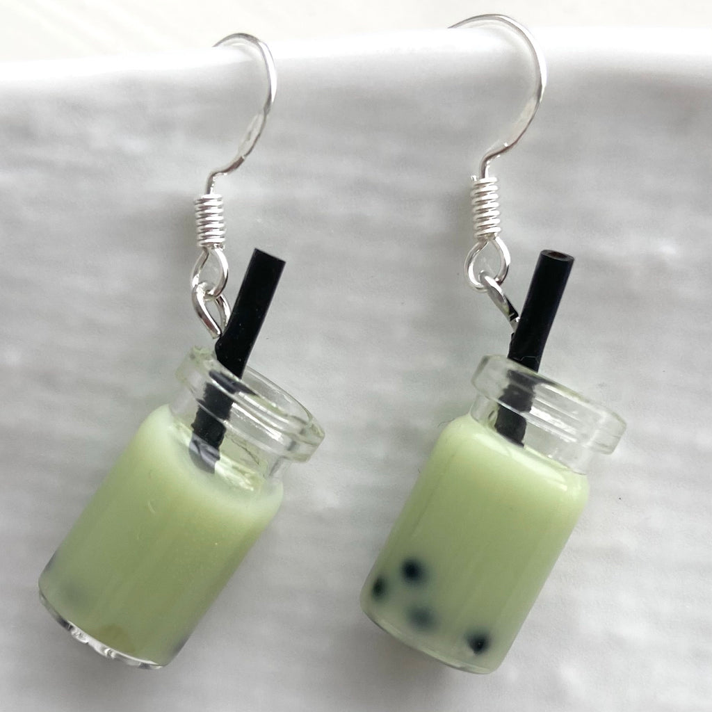Handmade by Coco- Bubble Tea earrings (use drop down box to select colour)