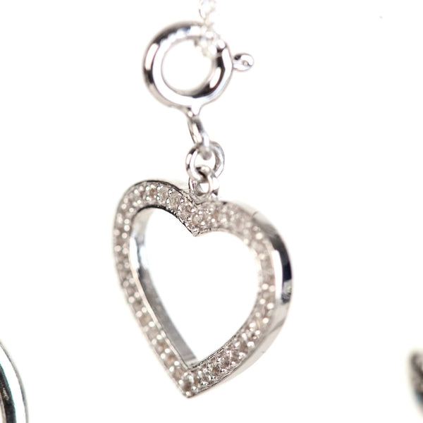 White topaz heart necklace