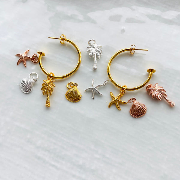 Paradise hoop earrings - create your own