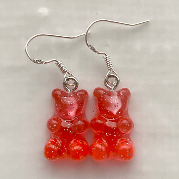 Handmade by Coco- Gummy bear earrings (use drop down box to select colour)