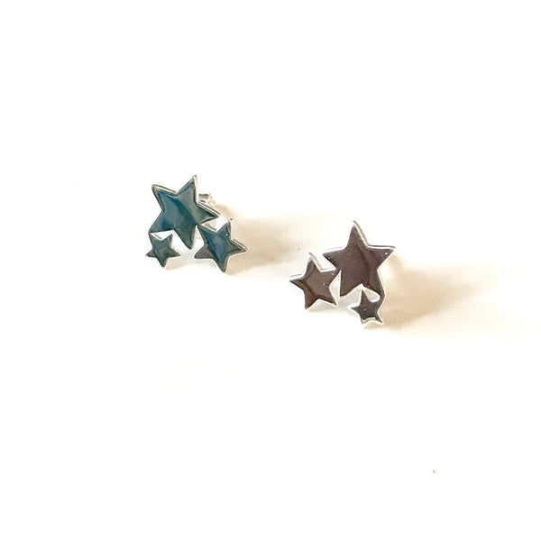 Star cluster earrings