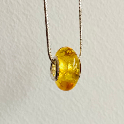 Baltic butterscotch amber donut necklace