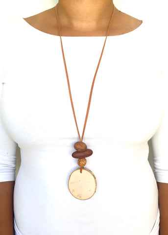 Natural Timber Australian Necklace for diffusing your essential oils the natural way
