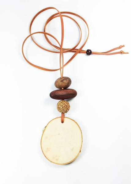 Natural Wooden Diffuser Necklace perfect for diffusing your essential oils the natural way